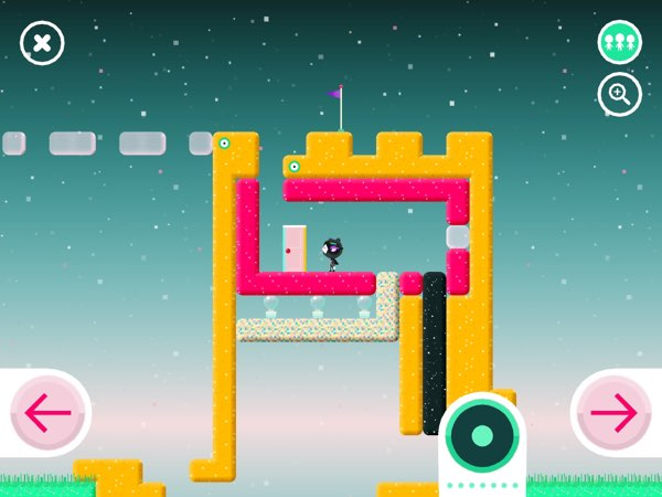 Toca Blocks allows you to design your own worlds by combining blocks and discovering new interactions among them.