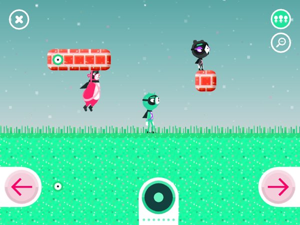 Toca Blocks has three heroes with three different characteristics and abilities.