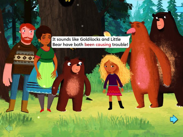 BEST INTERACTIVE STORYBOOK FOR FOUR-YEAR-OLDS: Goldilocks and Little Bear allows readers to switch between two different perspectives of the same story