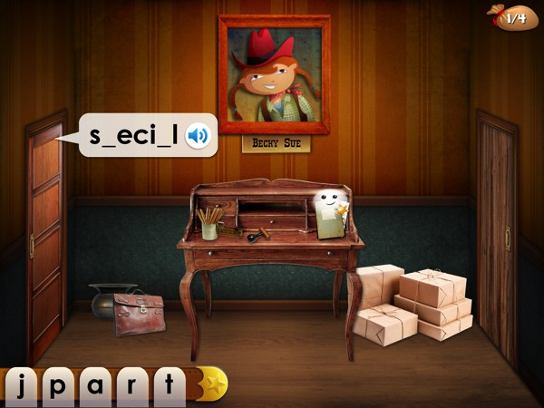 BEST SIGHT WORDS GAME FOR SIX-YEAR-OLDS: Mystery Word Town has kids learning to spell to save a Wild West town