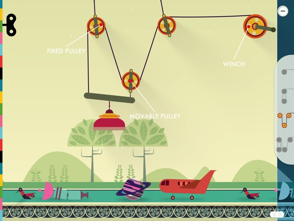BEST PHYSICS APP FOR SEVEN-YEAR-OLDS: Simple Machines provides an interactive sandbox where kids can learnhow simple machines work