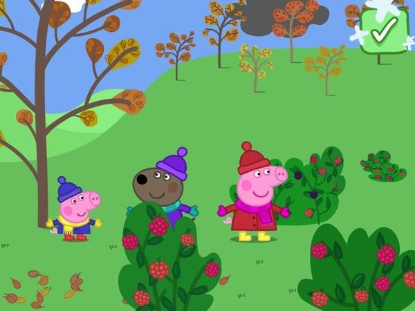 Explore autumn and winter scenes and discover fun surprises