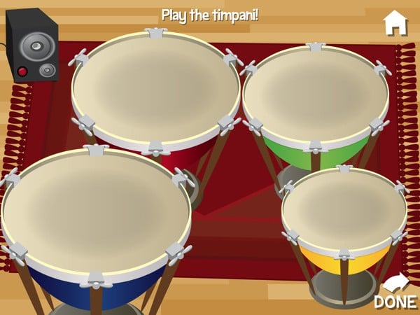 In-between games, you can engage in open-ended activities such as playing the timpani drums