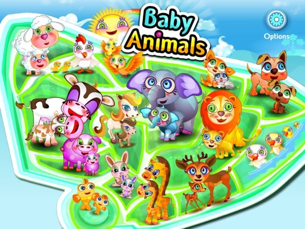 In total, there are 15 different animals in Baby Animals Learning Game that you can play with.