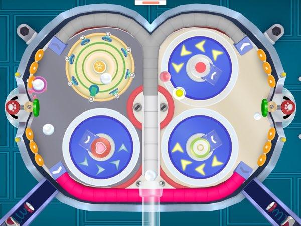 This is my favorite machine in Dr. Panda Candy Factory: the pinball gum machine. Playing pinball is always fun!