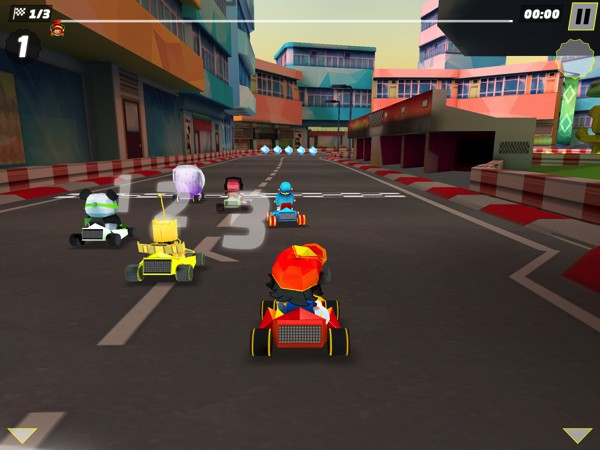 King of Karts lets you race against AI opponents or against real-life players in your local area network