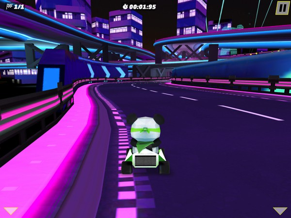 The game includes 3 game modes, including a Timed mode where you try to beat your own lap records