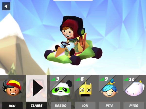 Choose from a roster of friendly racers