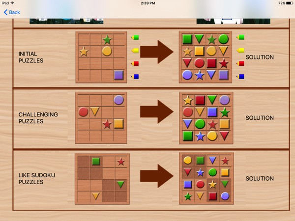 The gameplay is similar to sudoku, but with extra elements to care for, such as colors and grids-within-grids