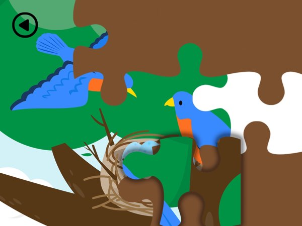 When you meet an animal in the forest, you can play the jigsaw puzzle game. When you complete the puzzle, you can listen to the narrator explaining fun facts related to that animal.