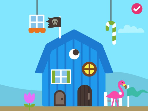 After constructing the house, kids can decorate it with various items