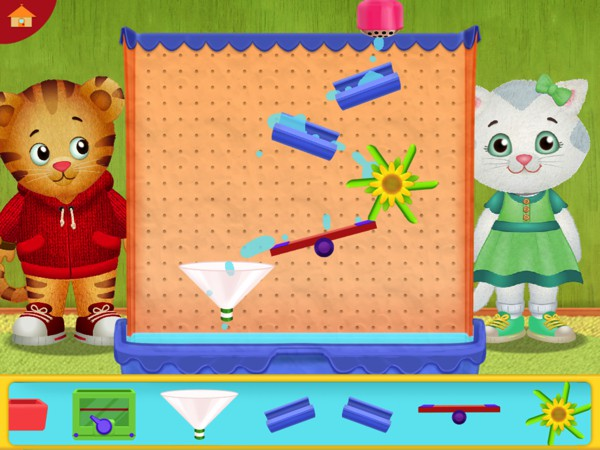 Kids can play games with Daniel and Katerina, and also help them go the bathroom when they start wiggling