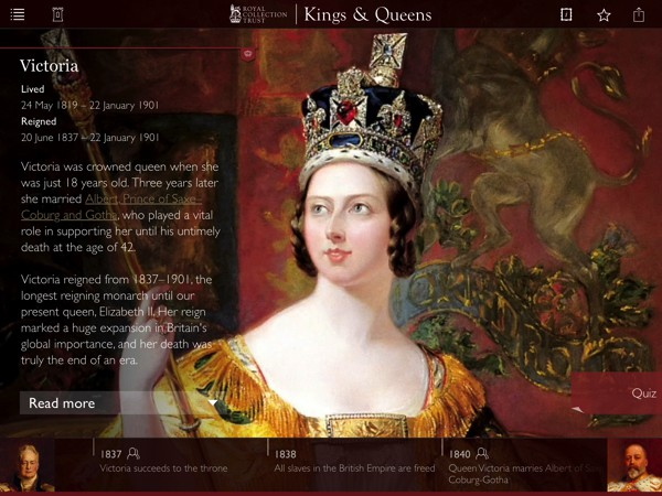 Kings and Queens app illustrates the past 1,000 years of British royal history