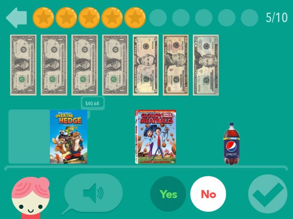 Using the Next Dollar Up technique, kids learn to determine whether they have enough money to purchase the things that they want.