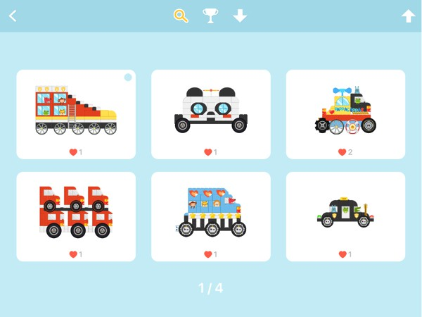 Children can share their creations, or browse and download vehicles made by other players