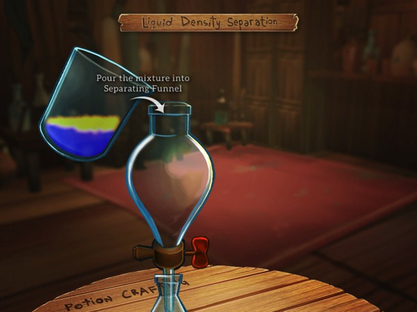 Craft potions using real-life lab apparatus, but take utmost care not to spill anything