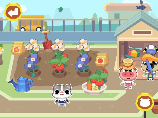 Kids can play in the playground, and grow plants in the school garden