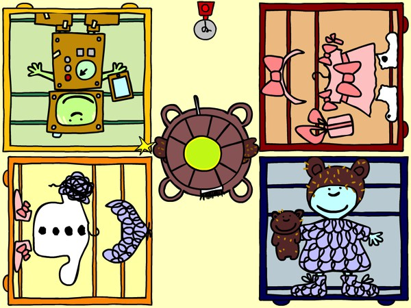 Poppetto Dress Up is a strategic multiplayer game for up to four players