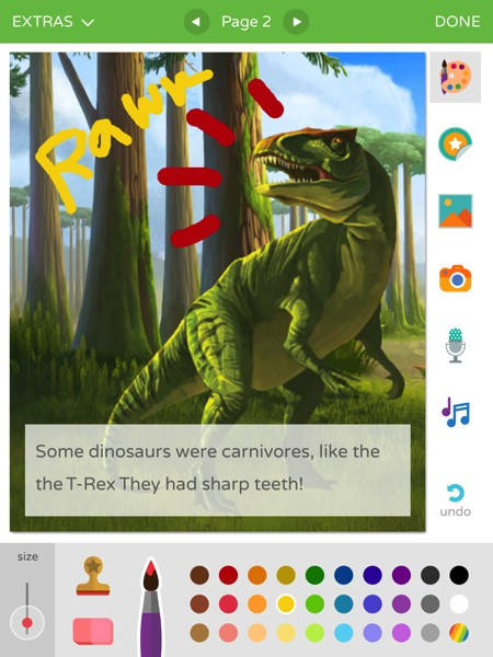 In Scribble Press Deluxe, kids can imagine and create their own stories
