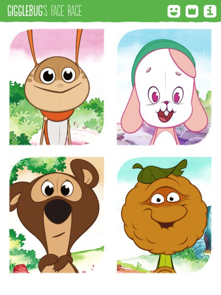 Choose from from four adorable characters to play with