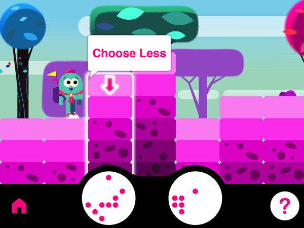 Millie Moreorless is a learning game designed to help hone a child's number sense