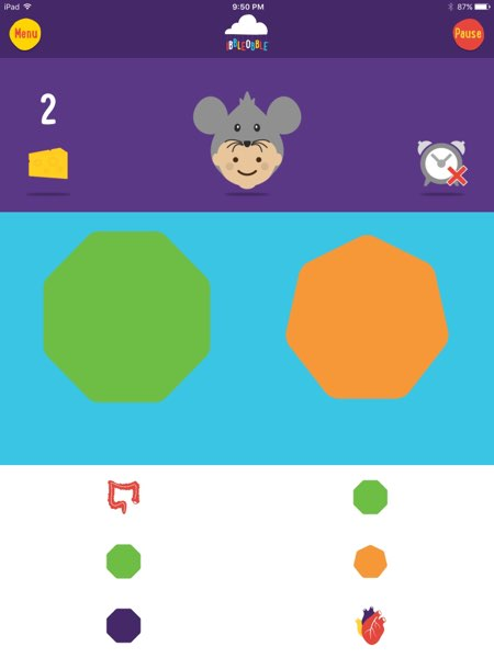 Patterns with Ibbleobble has a good learning curve, where your younger ones can start with sequences that involve fewer objects.