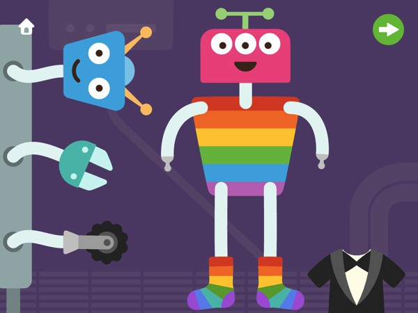 Choose from various body parts to create all sorts of silly robots