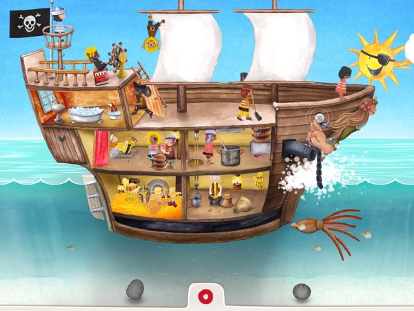 Tiny Pirates allows you to role-play as a pirate and control your own pirate ship.