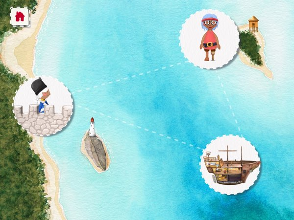Tiny Pirates is easy to navigate and intuitive enough for kids ages 3+ to explore on their own.