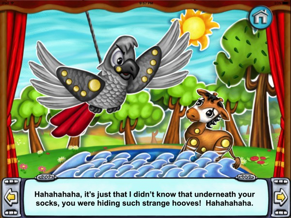 In the interactive story Manuel's Socks, kids learn that it's okay to be different
