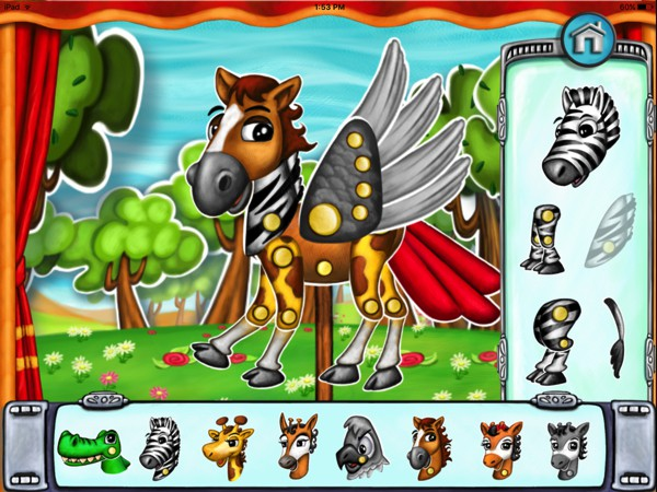 Collect characters and create your own animal hybrids in the puppet maker