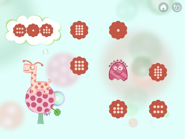 The app has 90 mini levels designed to help kids practice early learning skills such as tracing, recognizing numbers and shapes, counting, addition, and more.