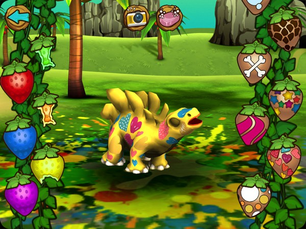 Customize your dinosaur with different colors and patterns