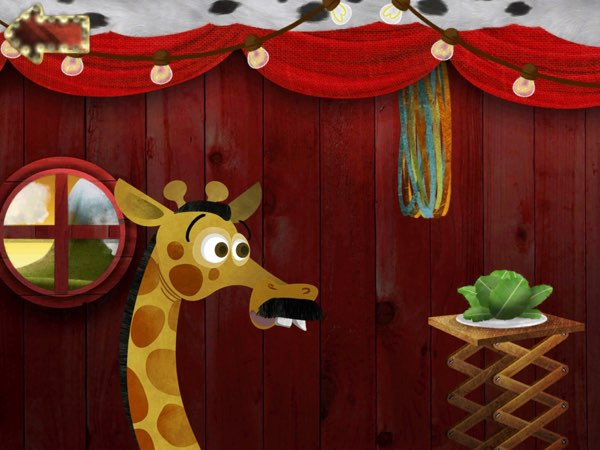Through this app, kids can also learn about the favorite meals of the different circus animals.
