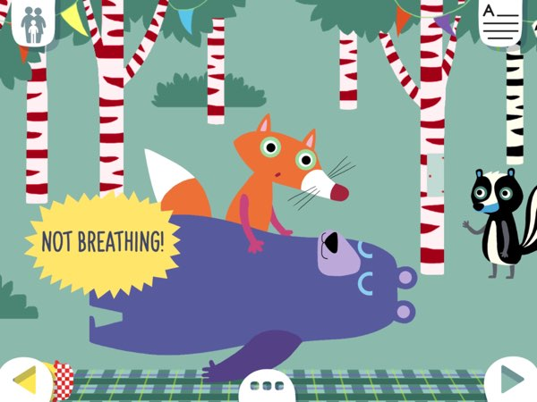 A Breathtaking Picnic teaches kids about first aid in a cardiac arrest or choking emergency.