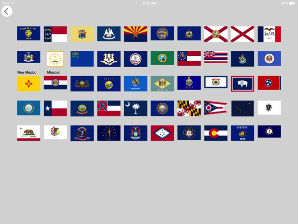 In the Flags section, you can learn about the flags of the countries of the world plus the flags of the U.S. states