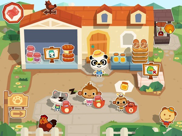 Sell your fresh goods at the shop and earn building tools to expand your farm