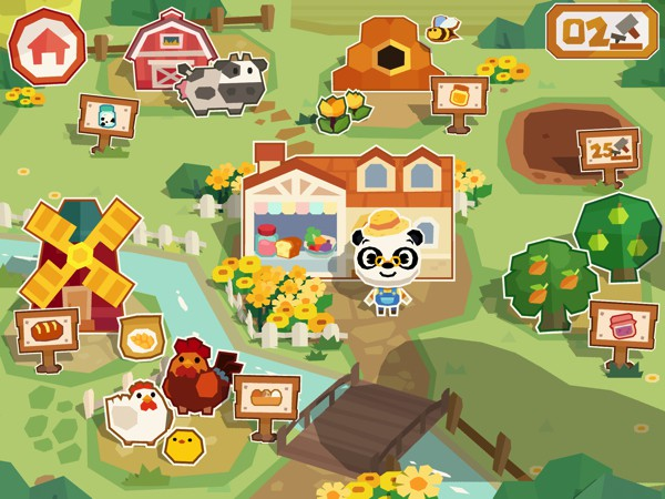 Expand your farm and unlock more activities