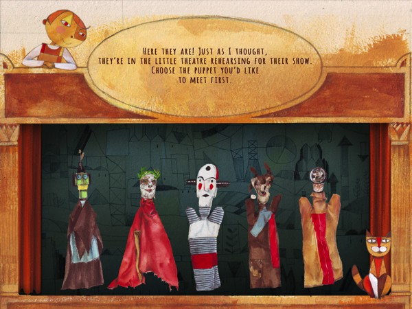 In addition to 6 of Klee's paintings, the app also includes an interactive puppet theater featuring hand puppets made for Klee's son