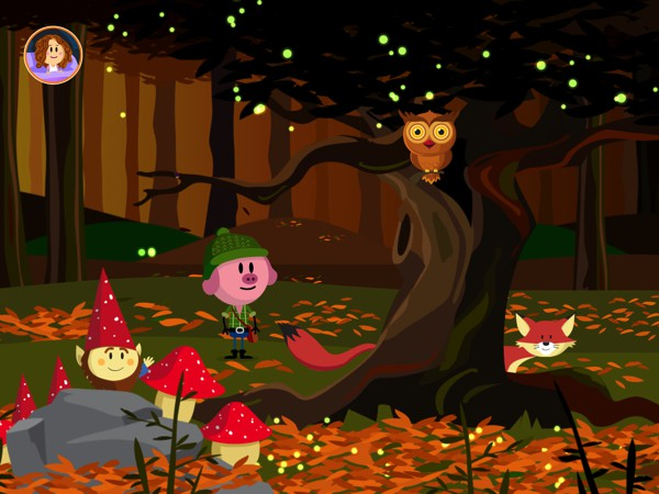 When the scene is lit, kids can explore to discover fun surprises that reinforce the concept that the dark is not something to be feared