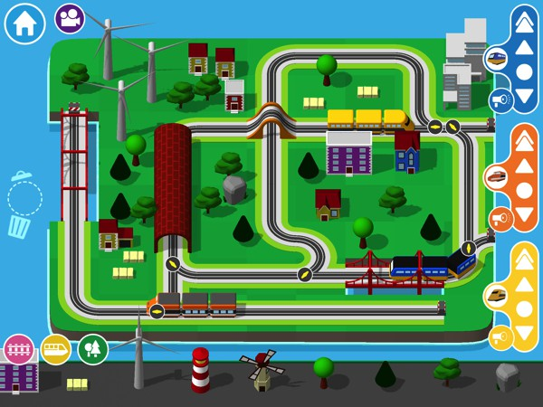 Train Kit is a virtual train set for your iPhone and ipad