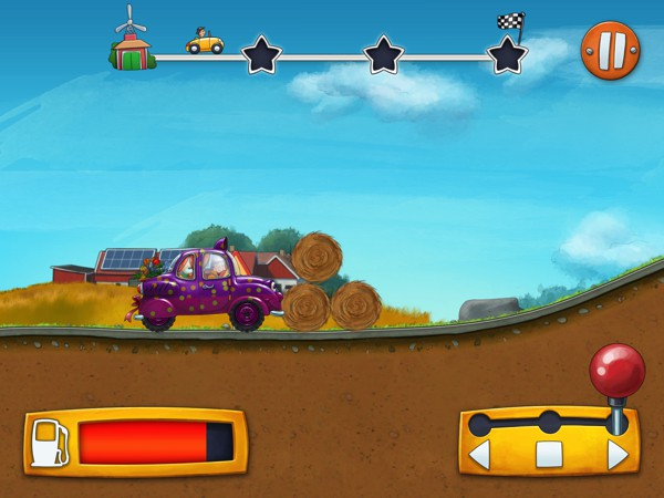 In Mulle Meck's Cars, kids can build their own car and take it for a test drive