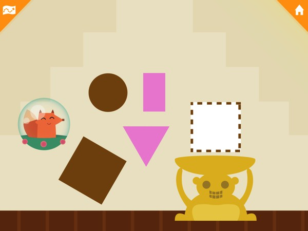 Kids learn to match, sort, and categorize shapes and colors in Highlights Shapes