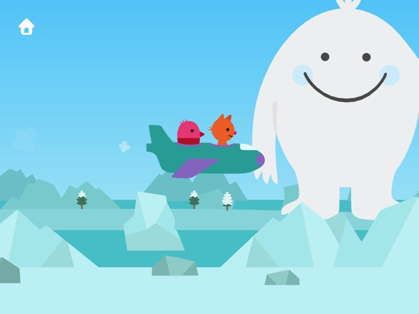 Fly through various locations, including the snowy arctic, and befriend magical creatures