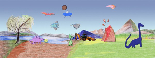 The app also allows kids to create their own scenes with animated stickers