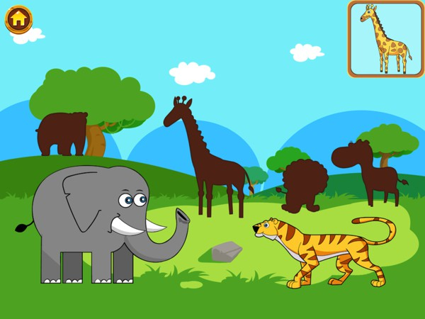 Play puzzles from various categories, from animals to vehicles