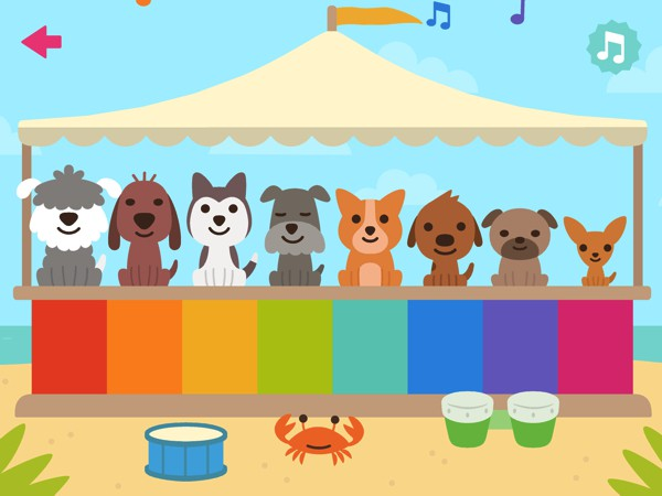 Play a jolly tune on the one-of-a-kind puppy piano