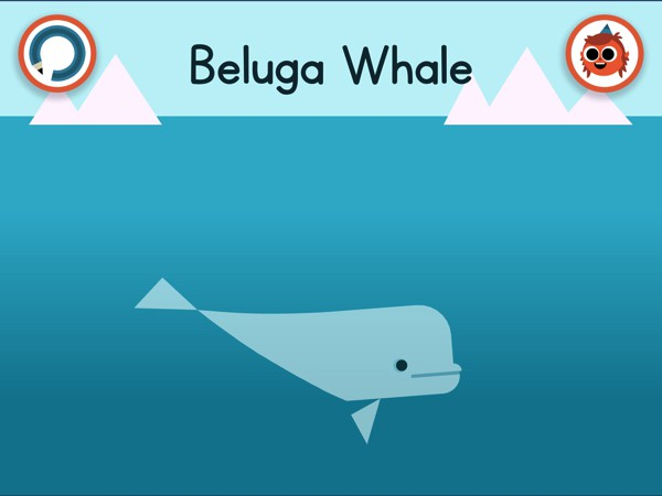 Explore new locations and discover new animals, like this beluga whale