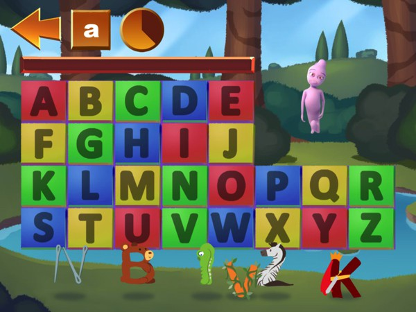 Kids can explore letters and letter sounds in Trilo Music ABC