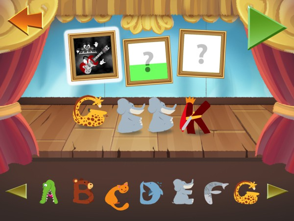 Explore spelling by dragging the letters onto the stage and watching them put on a show